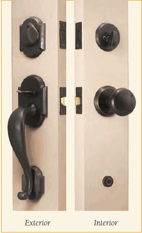 ... The Complete Set Includes A Thumblatch Handle And Single Cylinder  Deadbolt. For A Rustic, Southwest Style, Choose This Uniquely Designed Door  Hardware.