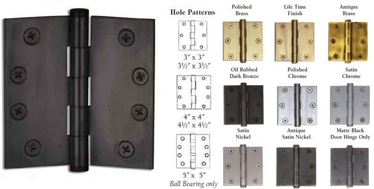 3 Inch X 3 Inch Door Butt Hinge Each W Button Finial